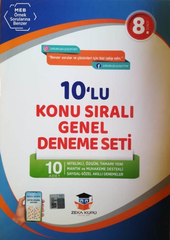 Zeka Küpü 8.Sınıf LGS 10 Deneme 2019 Yeni  Müfredat