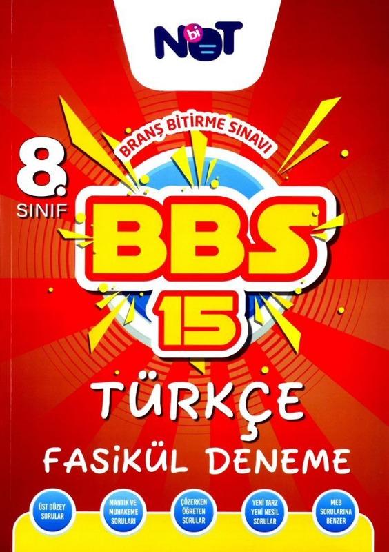 BiNot Yayınları Lgs 8. Sınıf Türkçe BBS 15 Fasikül Deneme