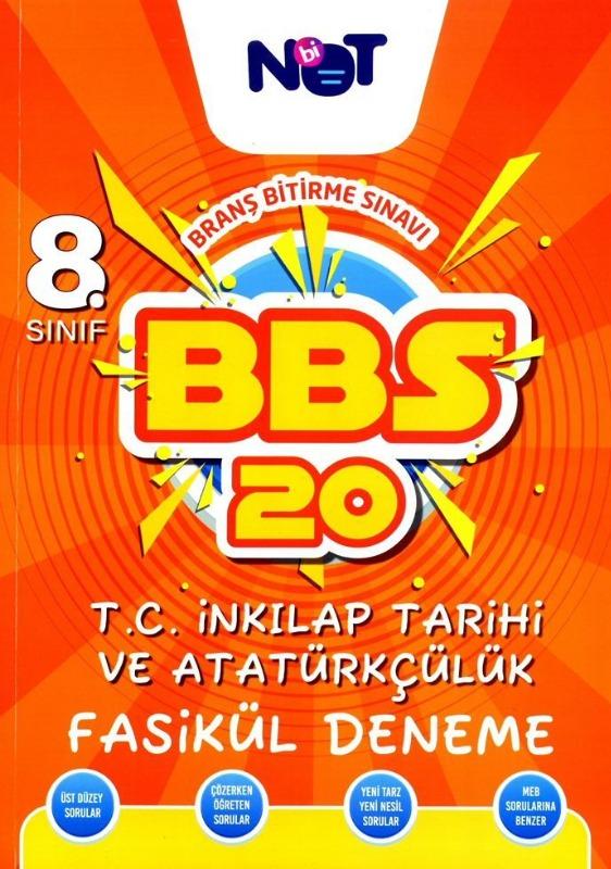 BiNot Yayınları LGS 8. Sınıf T.C. İnkılap Tarihi ve Atatürkçülük BBS 20 Fasikül Deneme