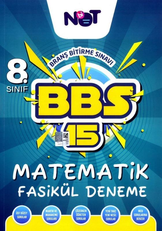 BiNot Yayınları LGS 8. Sınıf Matematik BBS 15 Fasikül Deneme