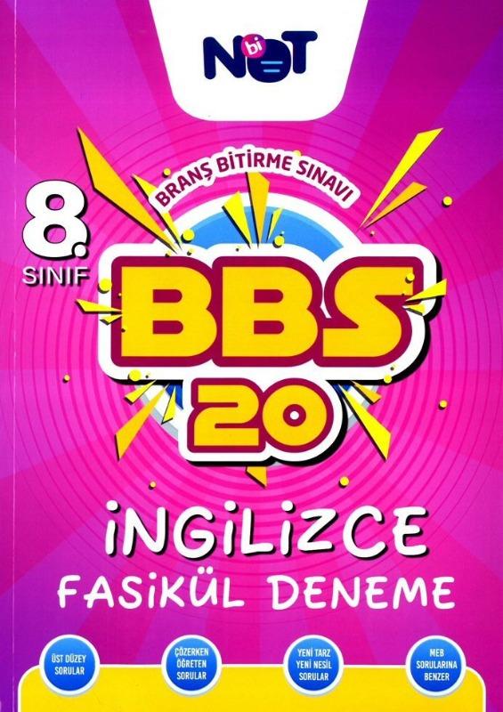 BiNot Yayınları LGS 8. Sınıf İngilizce BBS 20 Fasikül Deneme