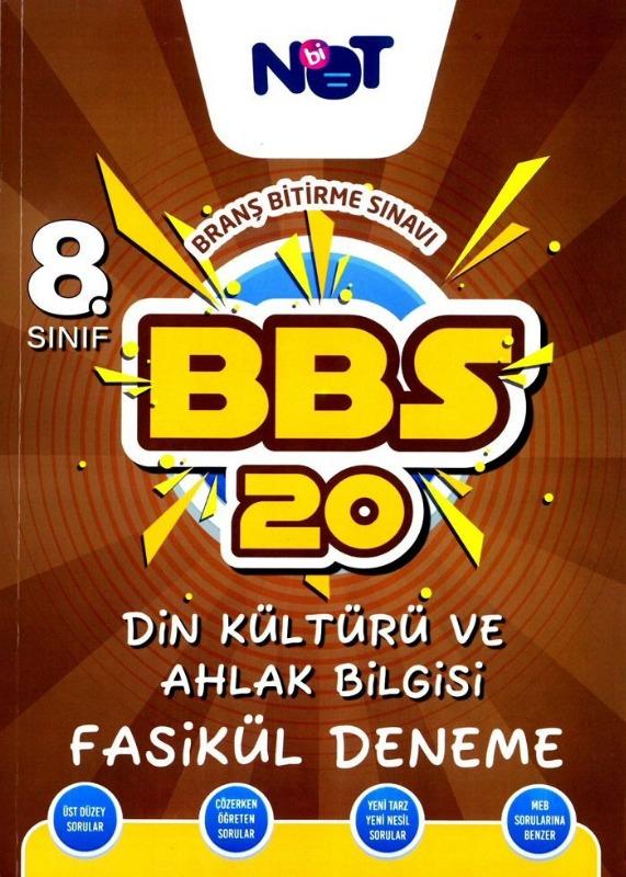 BiNot Yayınları LGS 8. Sınıf Din Kültürü ve Ahlak Bilgisi BBS 20 Fasikül Deneme