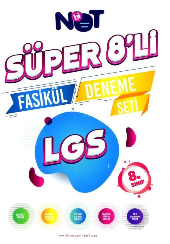 BiNot Yayınları 8. Sınıf LGS Süper 8li Fasikül Deneme Seti