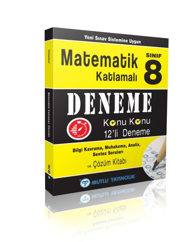 Matematik Katlamalı Deneme 8.Sınıf ( Yeni Sınav Sistemine Uygun) Mutlu Yayınları