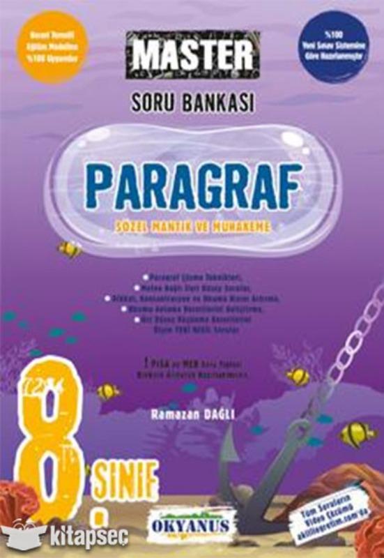 8. Sınıf Master Paragraf Soru Bankası  Okyanus Yayınları