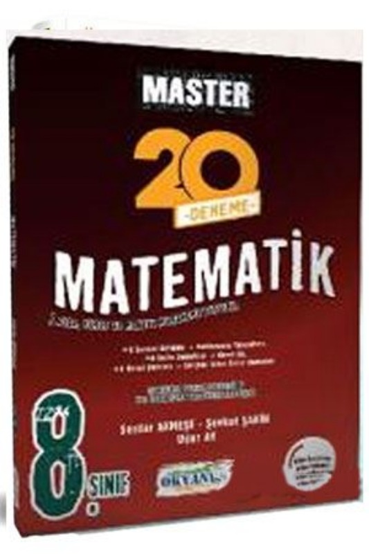 8. Sınıf LGS Master 20 Matematik Denemesi Okyanus Yayınları