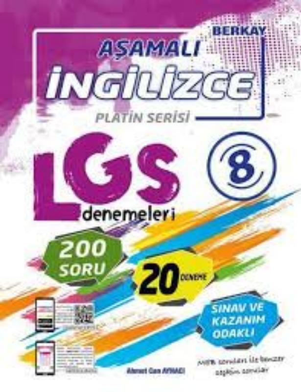 Berkay Yayınları 8. Sınıf LGS İngilizce Aşamalı Denemeleri