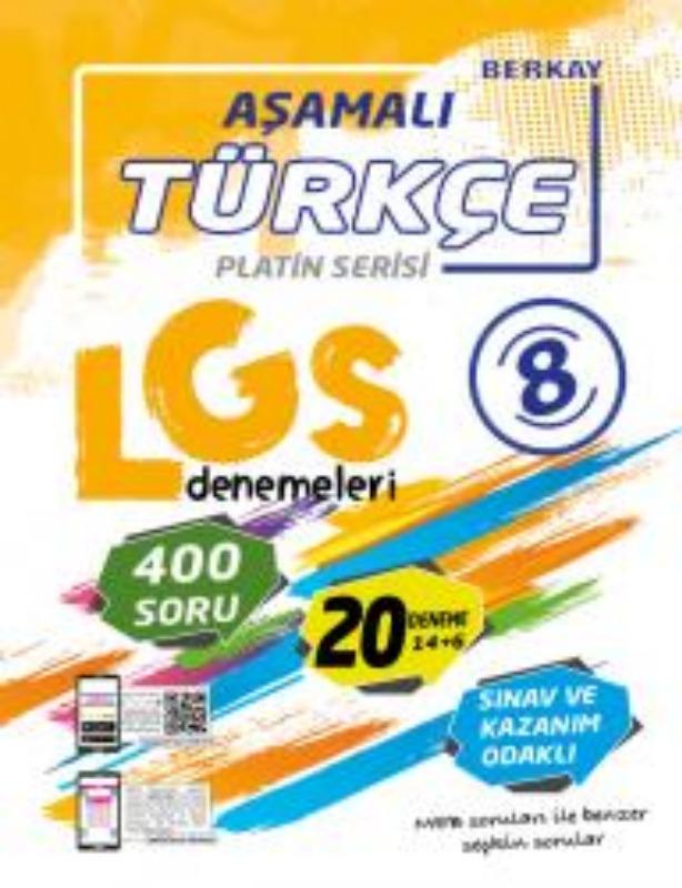 Berkay Yayınları  8. Sınıf LGS Türkçe Aşamalı Denemeleri