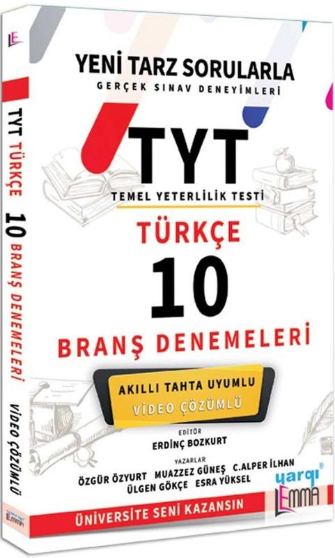 Yargı Lemma Yayınları TYT Türkçe Video Çözümlü 10 Branş Denemeleri