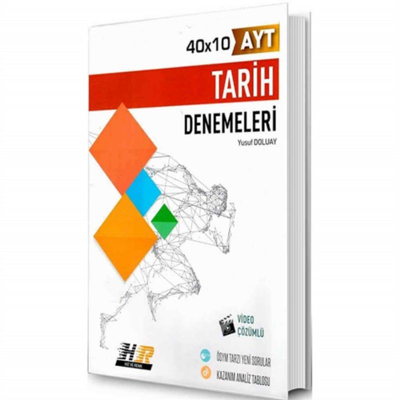 Hız ve Renk Yayınları AYT Tarih 40x10 Denemeleri