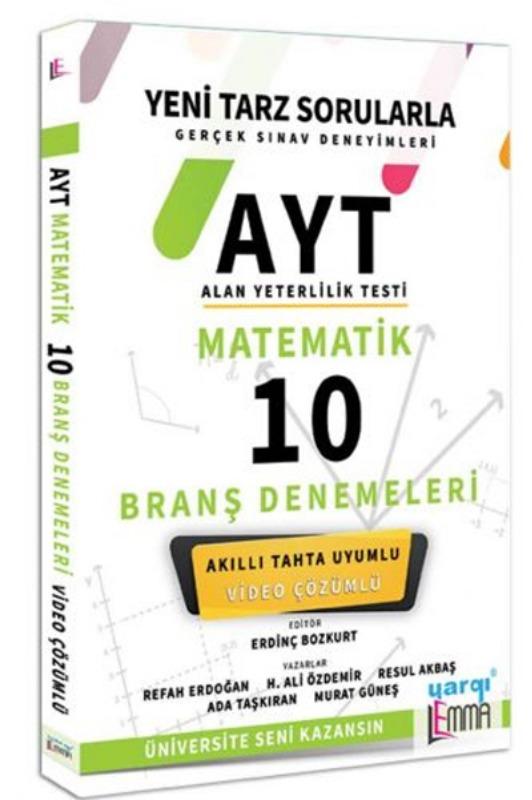 Yargı Lemma Yayınları AYT Matematik Video Çözümlü 10 Branş Denemeleri