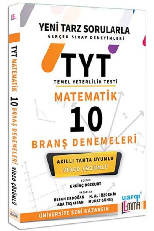 Yargı Lemma Yayınları  TYT Matematik Video Çözümlü 10 Branş Denemeleri