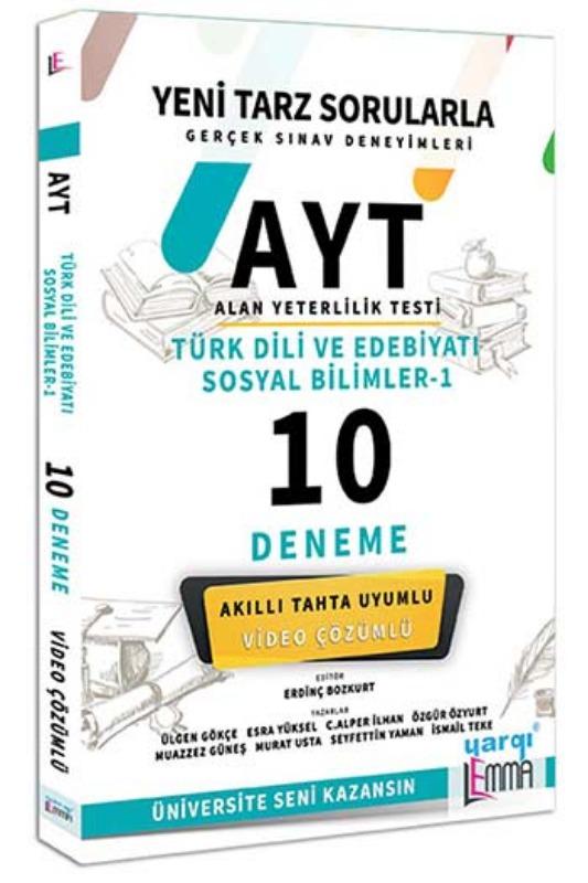 Yargı Lemma Yayınları AYT Türk Dili ve Edebiyatı Sosyal Bilimler 1 Video Çözümlü 10 Deneme