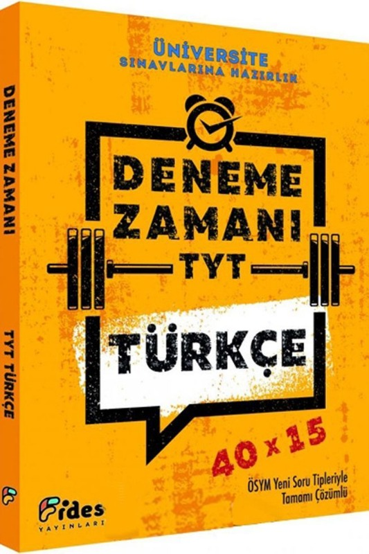 Fides Yayınları TYT Türkçe 40x15 Deneme Zamanı