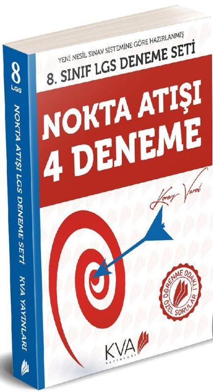 KVA Yayınları 8. Sınıf Nokta Atışı 4 Deneme Kitabı