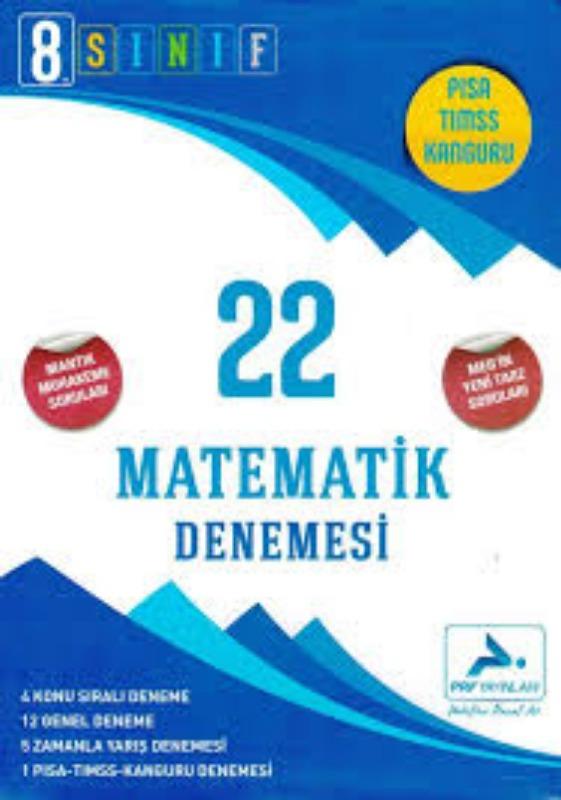 PRF Yayınları 8. Sınıf Matematik 22 Denemesi