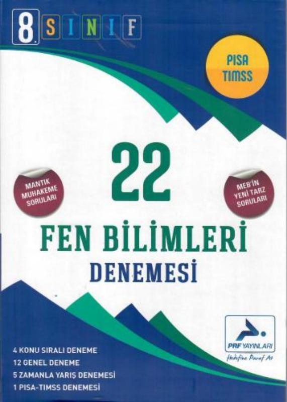 PRF Yayınları 8. Sınıf Fen Bilimleri 22 Denemesi