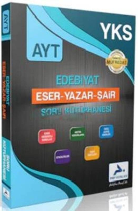 PRF Yayınları AYT Edebiyat Eser Yazar Şair Soru Kütüphanesi