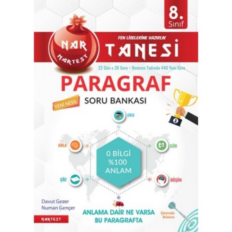 8. Sınıf Nar Tanesi Paragraf Soru Bankası Nartesi Yayınları