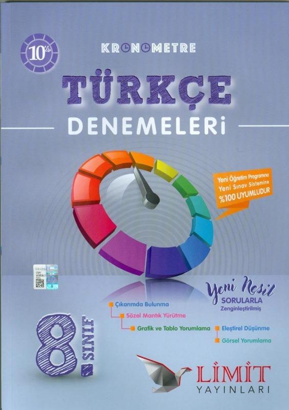 Limit Yayınları 8.Sınıf Kronometre 10'lu Türkçe Denemeleri