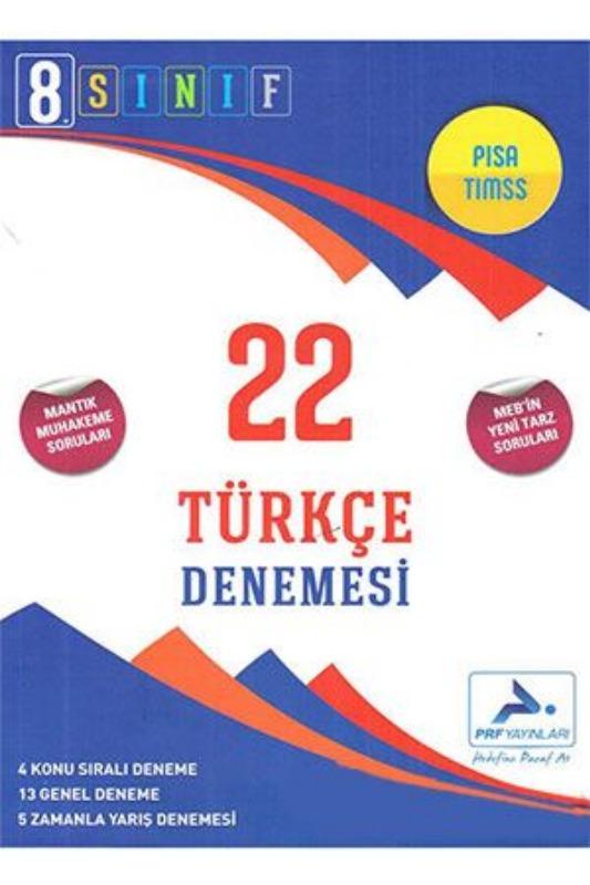 PRF Yayınları 8. Sınıf Türkçe 22 Denemesi