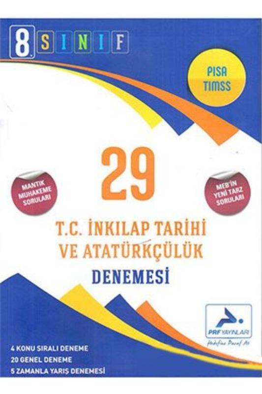 PRF Yayınları 8. Sınıf T.C. İnkılap Tarihi ve Atatürkçülük 29 Deneme