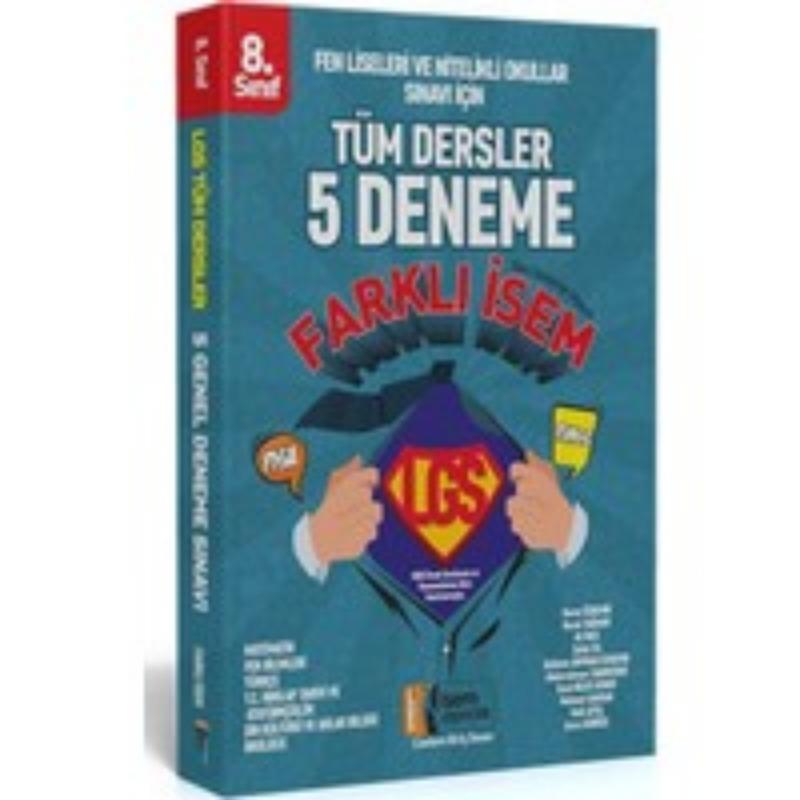 İsem Yayınları 8. Sınıf LGS Tüm Dersler Farklı İsem 5 Deneme