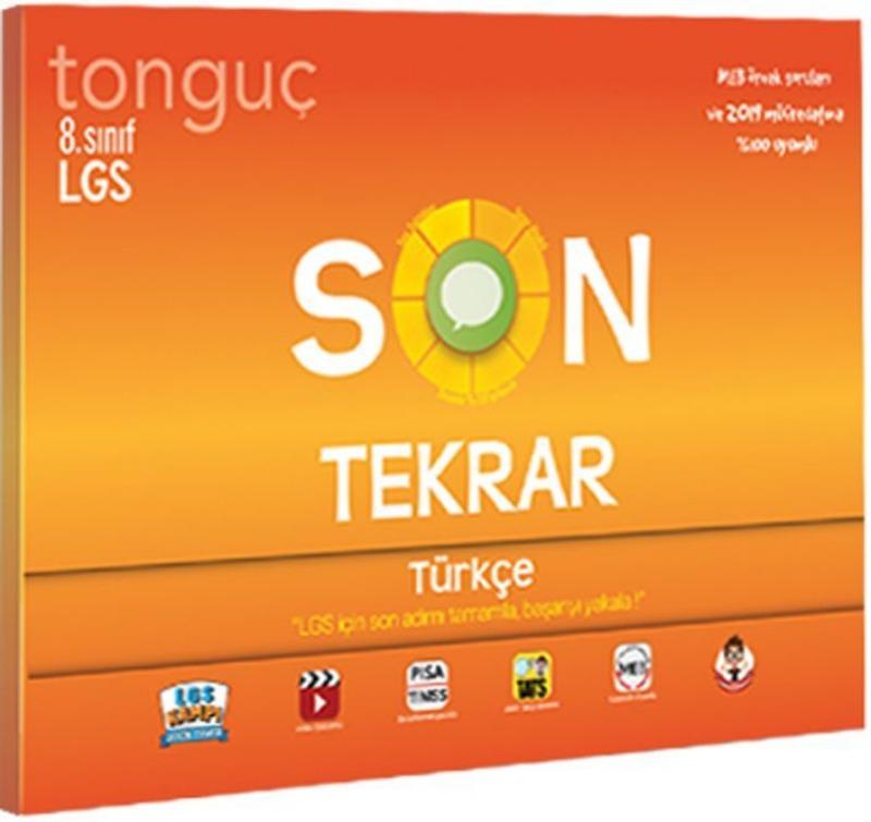 Tonguç Akademi 8. Sınıf LGS Son Tekrar Türkçe