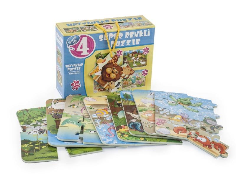 Hayvanlar Super Renkli Puzzle Diytoy Oyuncak