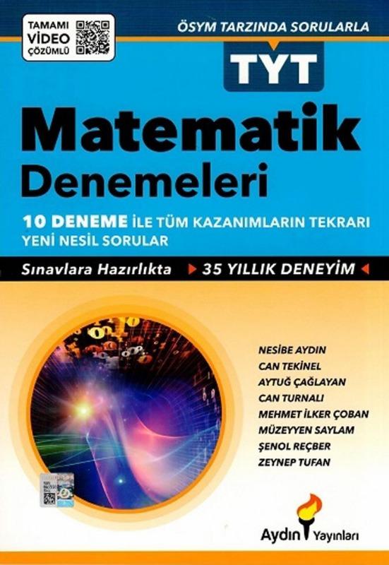 Aydın Yayınları TYT Matematik 10 lu Denemeleri