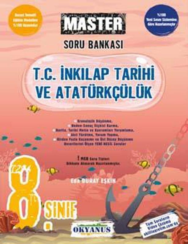 Okyanus Yayınları 8. Sınıf LGS Master T. C. İnkılap Tarihi Ve Atatürkçülük Soru Bankası