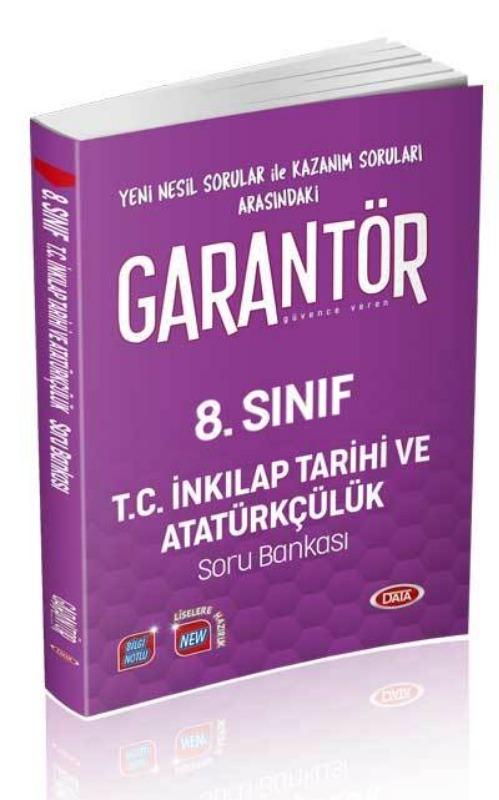 Data Yayınları 8. Sınıf Garantör T.C. İnkılap Tarihi ve Atatürkçülük Soru Bankası