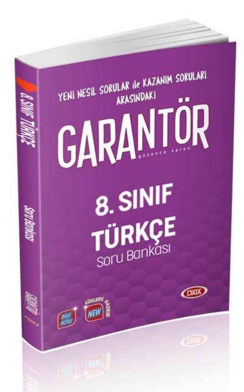 Data Yayınları 8. Sınıf Garantör Türkçe Soru Bankası