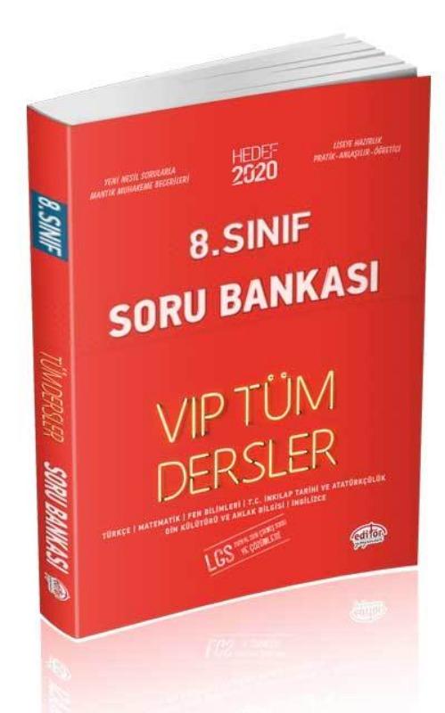 8. Sınıf VIP Tüm Dersler Soru Bankası Editör Yayınları