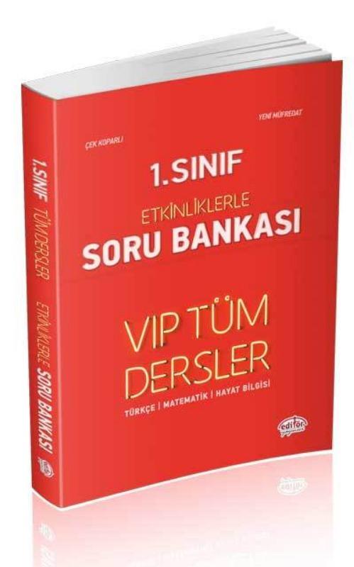1. Sınıf VIP Tüm Dersler Etkinliklerle Soru Bankası Kırmızı Kitap Editör Yayınları