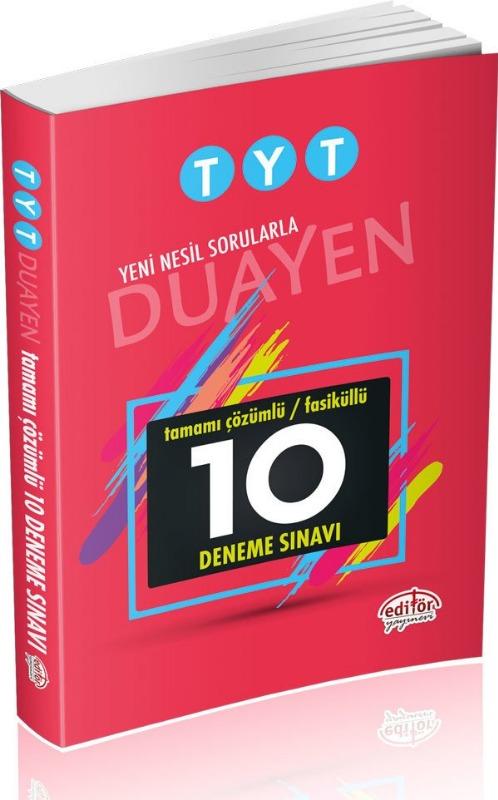 TYT Duayen Tamamı Çözümlü 10 Fasikül Deneme Sınavı Data Yayınları