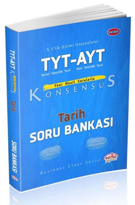 TYT AYT Konsensüs Tarih Soru Bankası Editör yayinevleri