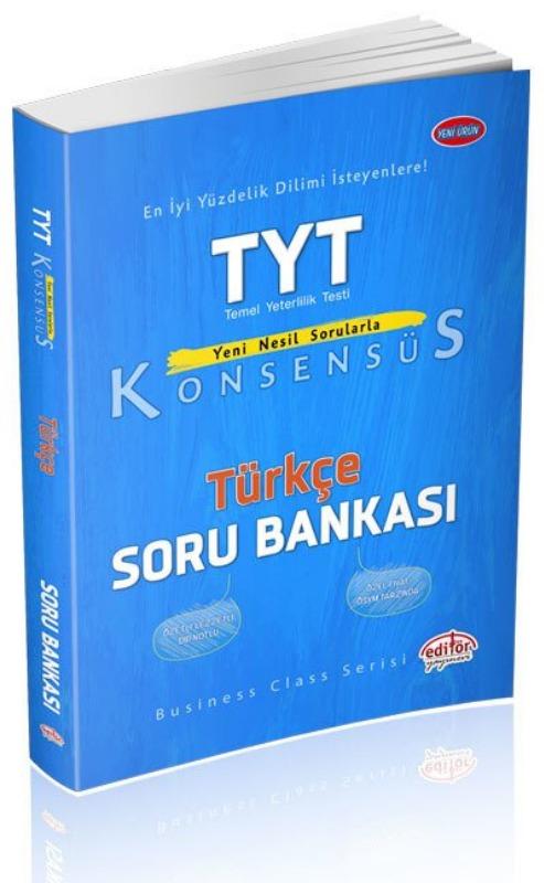 TYT Konsensüs Türkçe Soru Bankası Editör yayinevleri