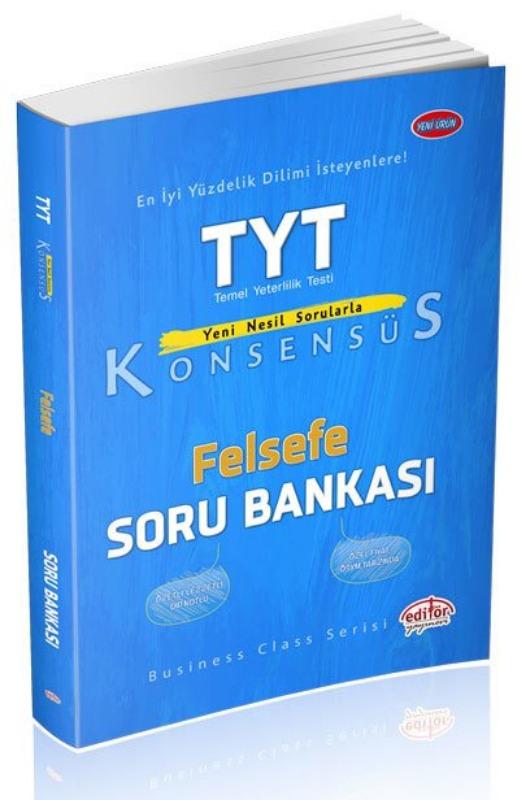 TYT Konsensüs Felsefe Soru Bankası Editör yayinevleri