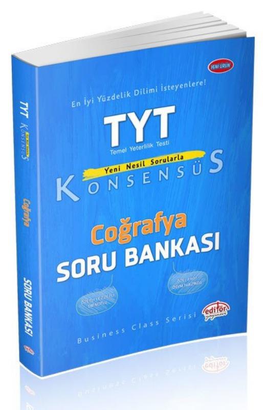 TYT Konsensüs Coğrafya Soru Bankası Editör yayinevleri