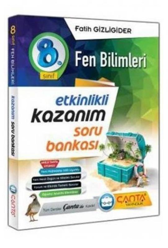 8. Sınıf Fen Bilimleri Etkinlikli Kazanım Soru Bankası Çanta Yayınları
