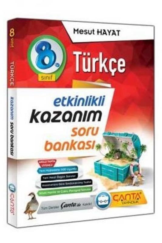 8. Sınıf Türkçe Etkinlikli Kazanım Soru Bankası Çanta Yayınları