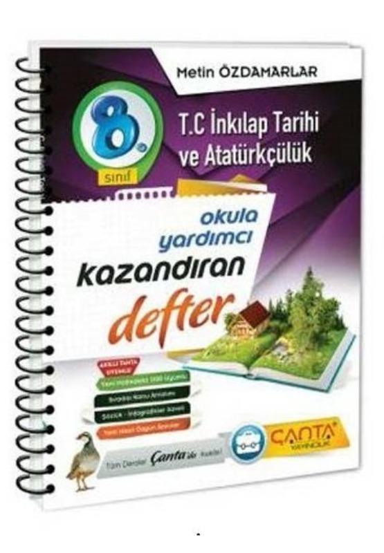 8. Sınıf T.C. İnkılap Tarihi ve Atatürkçülük Kazandıran Defter Çanta Yayınları