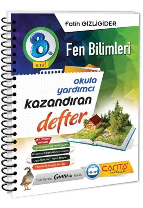 8.Sınıf Fen Bilimleri Kazandıran Defter Çanta Yayınları