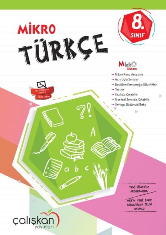8.Snf. Mikro Defter  Türkce Çalışkan Yayınları