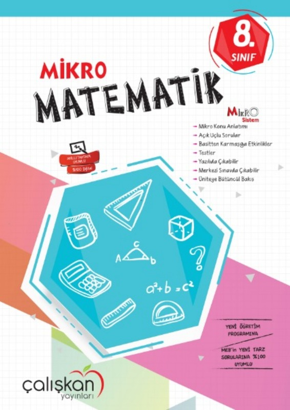 8.Snf. Mikro Defter  Matematik Çalışkan Yayınları