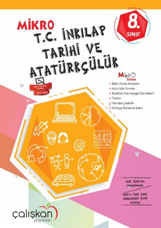 8.Snf. Mikro Defter  TC İnkılap Tarihi ve Atatürkçülük Çalışkan Yayınları