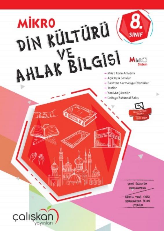 8.Snf. Mikro Defter  Din Kültürü ve Ahlak Bilgisi Çalışkan Yayınları