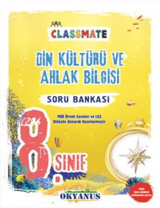 Okyanus Yayınları 8. Sınıf Classmate Din Kültürü Ve Ahlak Bilgisi Soru Bankası