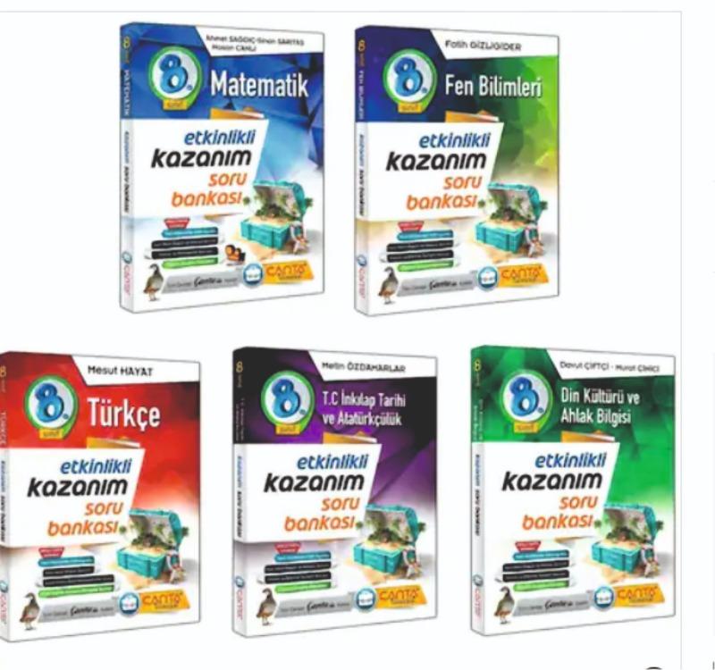 Çanta Yayınları 8.Sınıf  Etkinlikli Kazanım  Soru Bankası  Seti